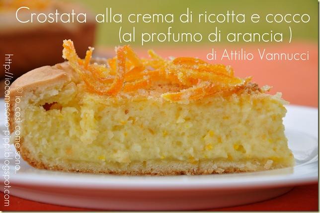 Crostata alla crema di ricotta e cocco al profumo di arancia1