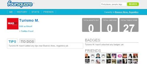 Los destinos usan Foursquare para promocion