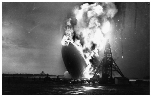 The use of hydrogen in airships effectively ended with the crash of the Hindenburg in 1937.
