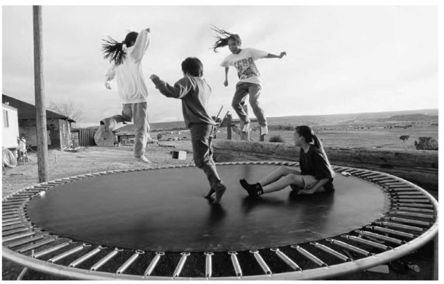 The bounce provided by a trampoline is due to elastic potential energy.