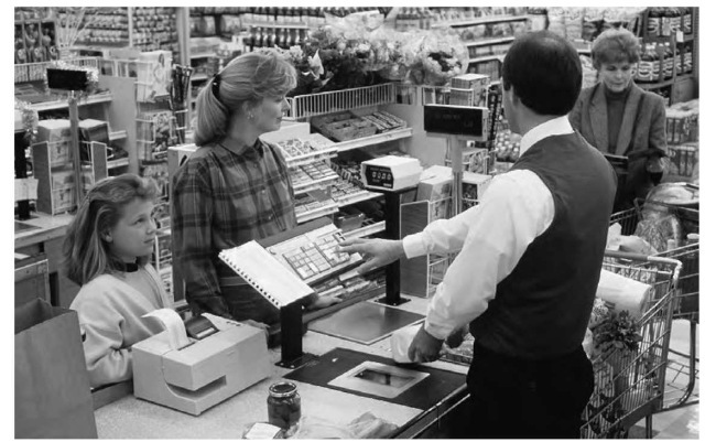 The checkout scanners in grocery stores use holographic technology that can read a universal product code (UPC) from any angle.