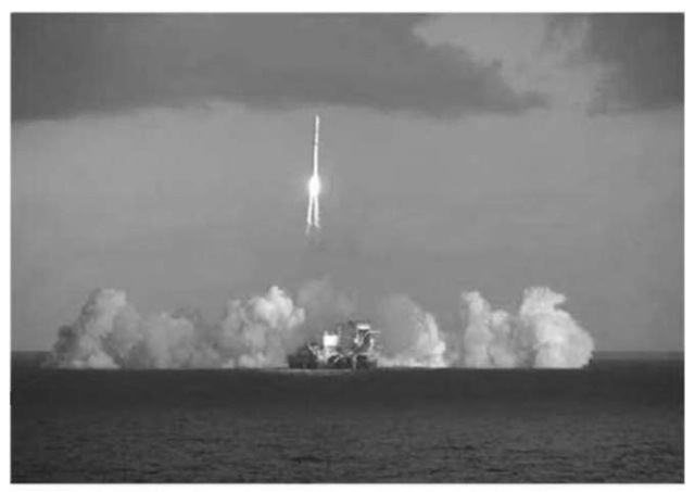 Figure 6. Sea Launch successfully lifts DIRECTV 1-R satellite into orbit. This figure is available in full color at http://www.mrw.interscience.wiley.com/esst.