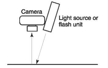 Lighting used for photographing the results of heat treatment.