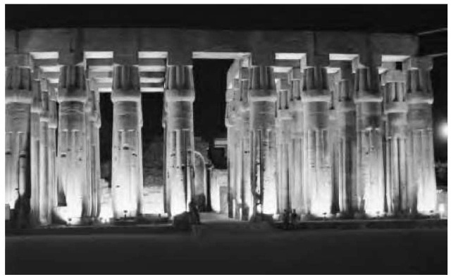 Luxor temple, offering a magnificent display of the New Kingdom Period (1550-1070 b.c.e.) architectural achievement and Amu-nite fervor.