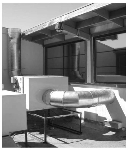 Coolerado Cooler installation at a school in Sacramento, California.