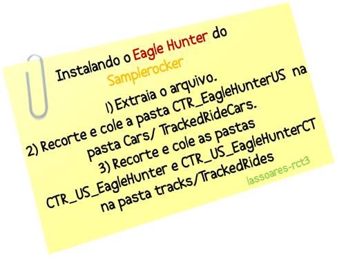 Instalando Eagle Hunter (Samplerocker) lassoares-rct3