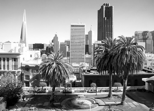 View of San Francisco out hotel window