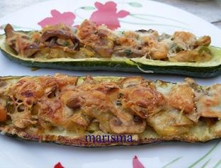 calabacines rellenos de champi,racion