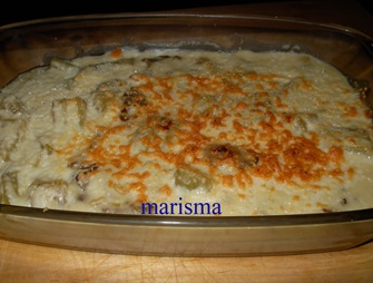 cardo con bechamel