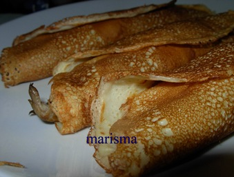 crepes de setas y jamon