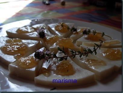 queso con mermelada de cebolla,racion