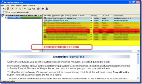keylogger detector2 prologic