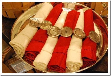 Antique silver napkin rings
