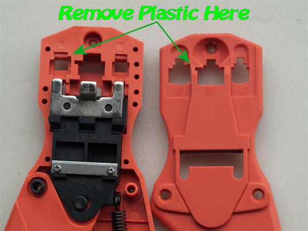 Mindstorms Crimp Tool Mod: Plastic Removal