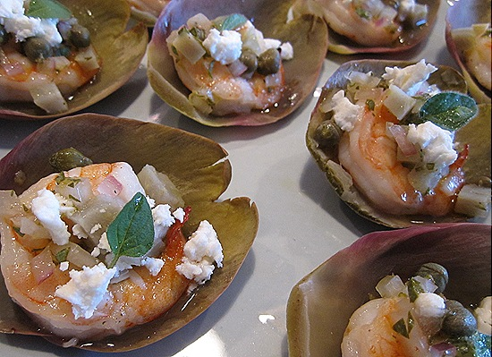 Shrimp-Artichoke-Feta Hors D'oeuvres