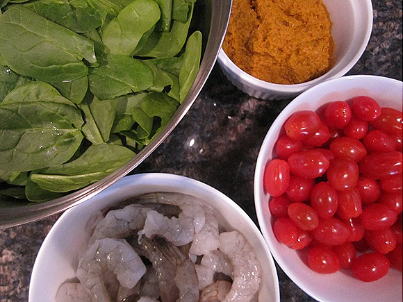 Curried Shrimp Ingredients