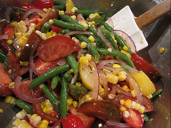 Tomato, Green Bean & Corn Salad