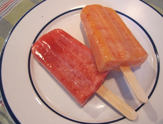 Peach & Plum Popsicles