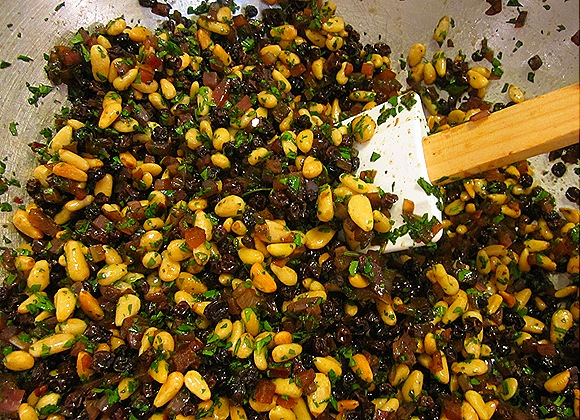 Current-Pine Nut Relish