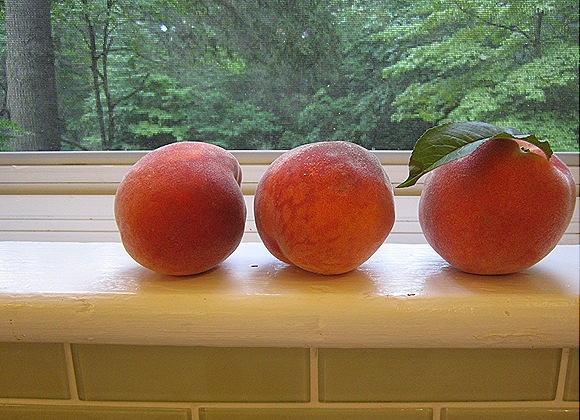 Peaches on a Windowsill