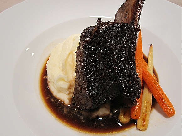 Braised Short Rib with Rosemary Mashed Potatoes & Roasted Carrots