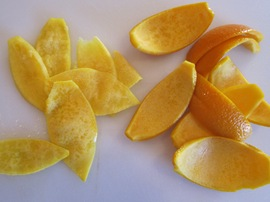 4. Peels with Pith Sliced Off