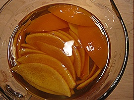 6. Candied Orange Peels in Sugar Syrup