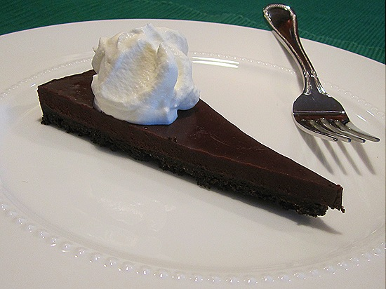Chocolate Cinnamon Tart with Whipped Cream