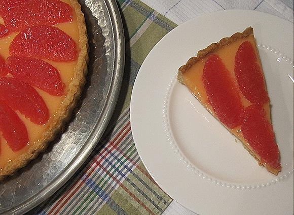 Grapefruit Curd  Tart
