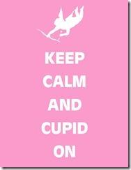 Keep Calm Cupid Pink