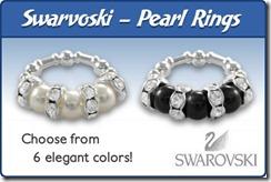 Swarovski Pearl Rings