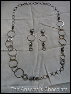 Metal Necklace and Earrings