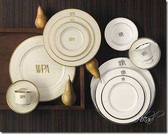 pickard monogram china