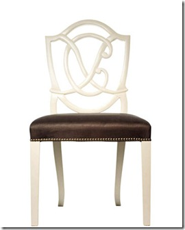 charlotte moss monogram chair - house beautiful