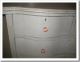 After cream dresser detail