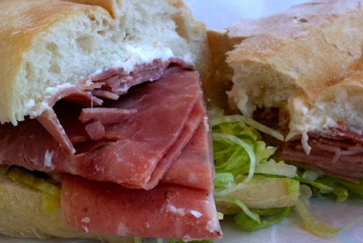 galantina and mortadella sandwich