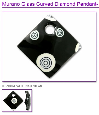 Murano Glass Bull's Eye Pendant