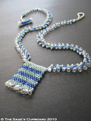 Water Drops Necklace by The Sage's Cupboard