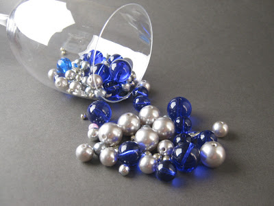Blue Steel Round Bead Mix