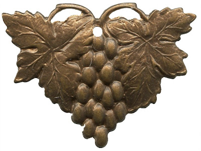 Vintaj Brass Harvest Grapes Pendant from Rings & Things