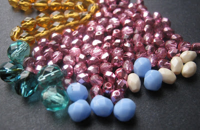 Assorted Fire Polish Beads