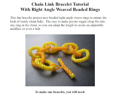 Right Angle Weave Chain Link Tutorial