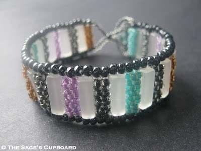 Jewel Tone Bar Bracelet by The Sage's Cupboard
