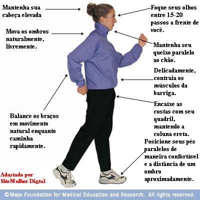 Importante caminhar corretamente para que sua caminhada seja proveitosa!