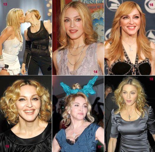 Cabelos da Madonna