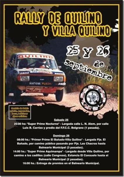 8º fecha del campeonato del Rally Regional de Trepadas de Quilino y Villa Quilino