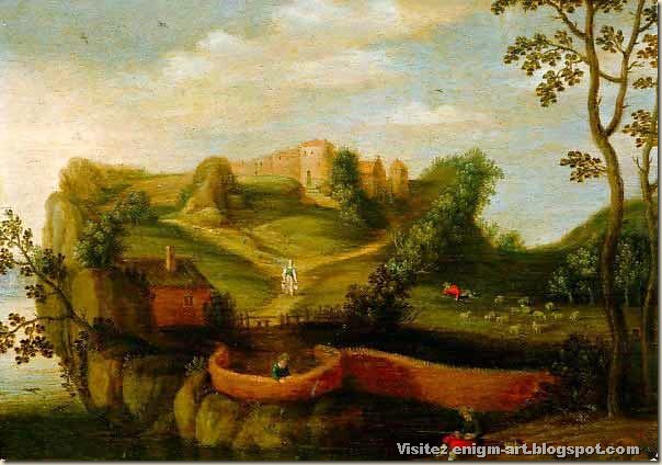Joos de Momper, paysage anthropomorphe, début 17eme