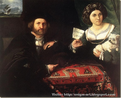 Lorenzo Lotto, Double Portrait d'un homme et sa femme, 1523-1524