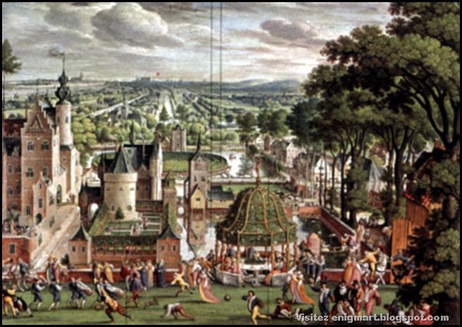 Parc avec château, Hans Bol, 1589