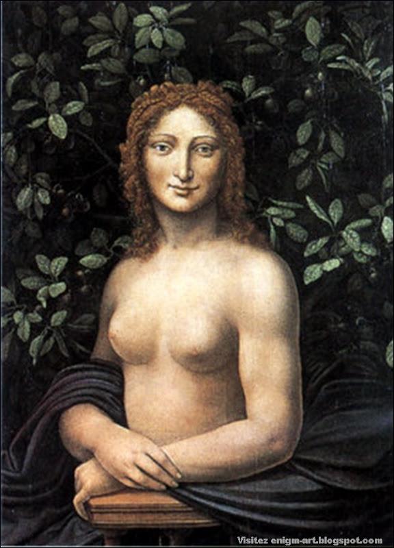 Imitateur de Leonard, Mona Vanna ou Joconde nue, XVIème, XVIIème siècle.